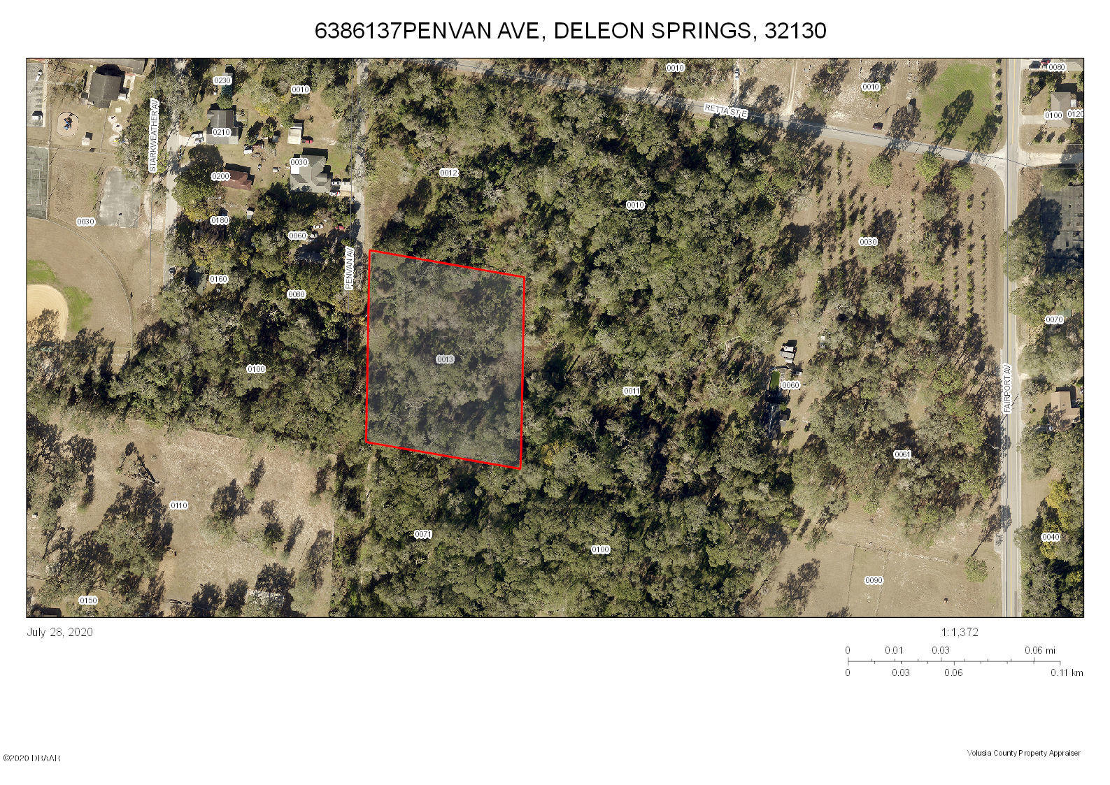 0 Penvan Avenue, DeLeon Springs, Florida 32130, ,Lots And Land,For Sale,0 Penvan Avenue,1073841