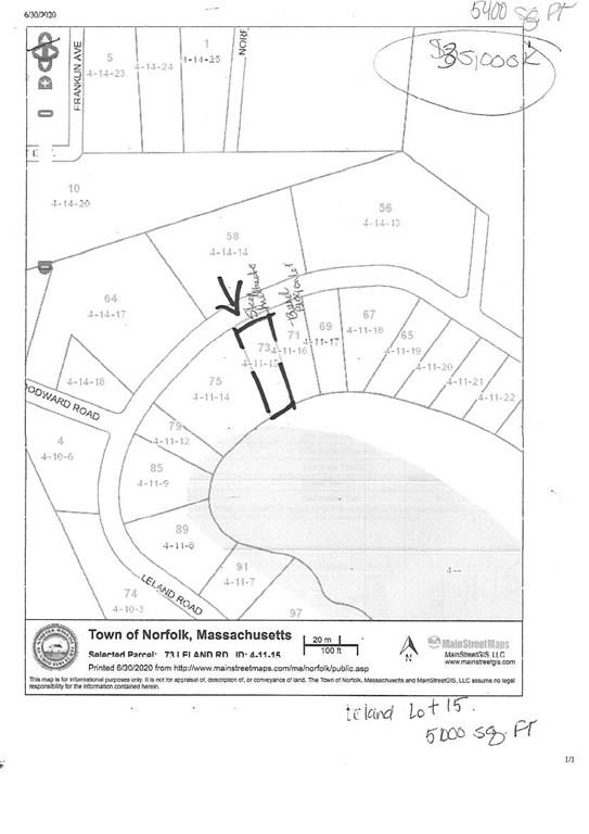 73 Leland Rd, Norfolk, Massachusetts 02056, ,Lots And Land,For Sale,73 Leland Rd,72715502