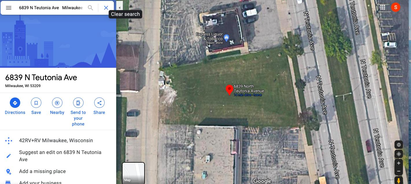 6839 N Teutonia Ave, Milwaukee, Wisconsin 53209, ,Lots And Land,For Sale,6839 N Teutonia Ave,1711213