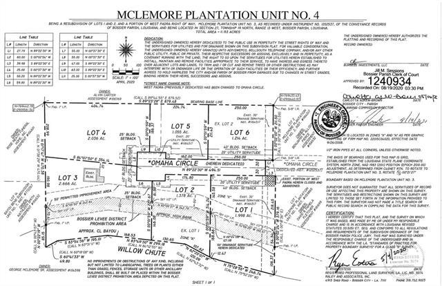 Lot 1 Omaha Circle, Bossier City, Louisiana 71111, ,Lots And Land,For Sale,Lot 1 Omaha Circle,270197NL