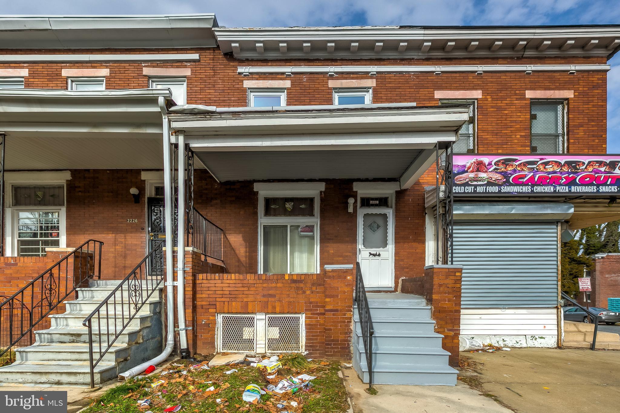 2228 AIKEN STREET, BALTIMORE, Maryland 21218, 3 Bedrooms Bedrooms, ,1 BathroomBathrooms,Townhouse,For Sale,2228 AIKEN STREET,MDBA538226